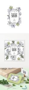 法国青稚品牌香氛皂包装插画设计