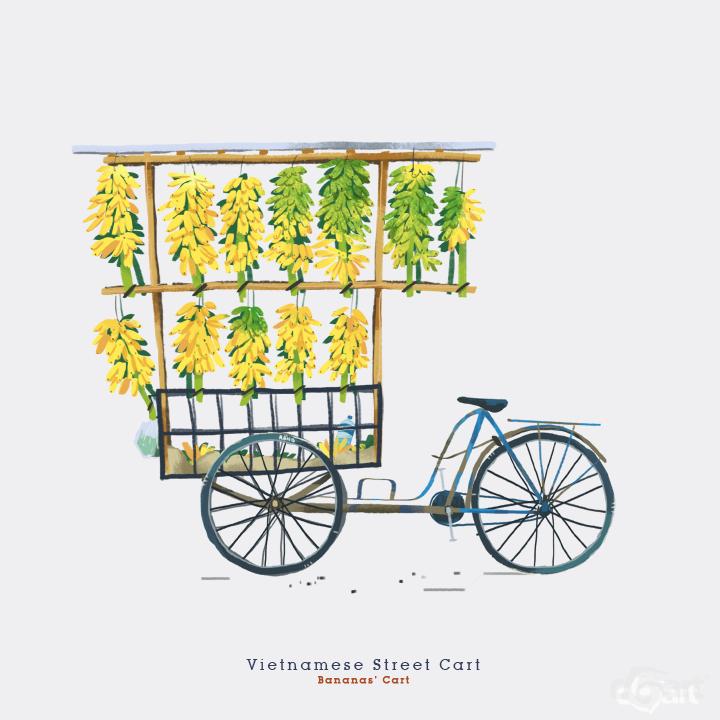 越南街头小货车-插画欣赏